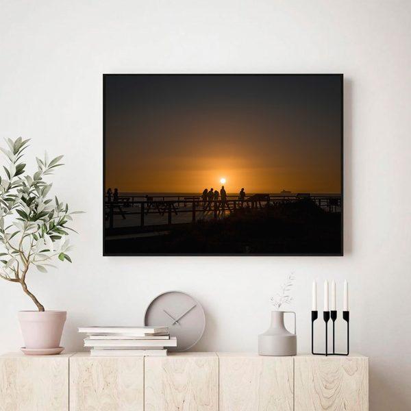 Pôr-do-sol de Porto Covo_Num Postal